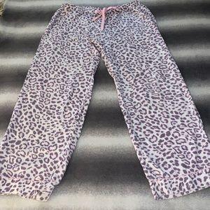 Victoria's Secret Pink & Fray Cheetah PJ Pants